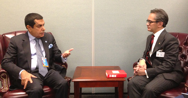 High Representative Al-Nasser meets with H.E. Dr. R.M. Marty Natalegawa, Foreign Minister of Indonesia