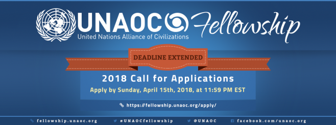DEADLINE EXTENDED: UNAOC Launches Call for Applications for the 2018 Edition of its Fellowship Programme
