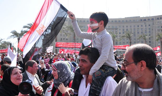 Hundreds of thousands made their way to Tahrir Square today where they cheered, danced, and waved flags. With the resignation of Prime Minister Ahmed Shafiq Thursday, supporters of Egypt's revolution had reason to celebrate. Cairo, Egypt.