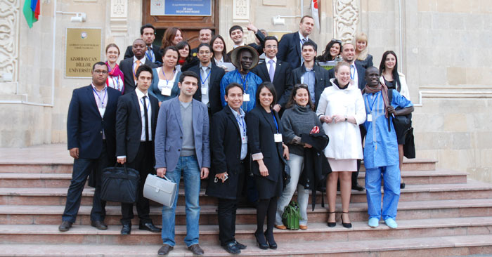 Members of the Global Youth Movement in Baku