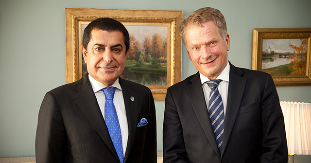 The High Representative Al-Nasser meets with H.E. the President of the Republic of Finland and holds brainstorming sessions with Nordic partners