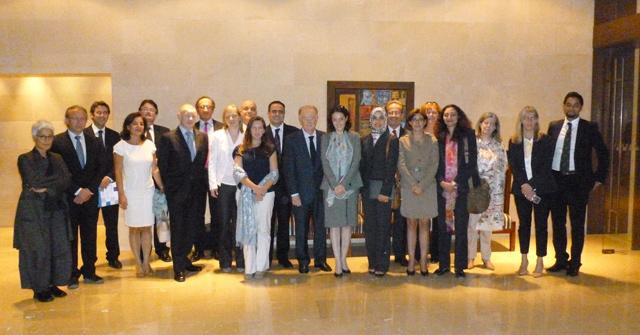 Leaders of major international broadcasters meet in private meeting at Dead Sea