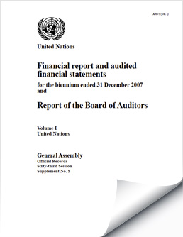 Biennium Financial Reports and Audited Financial Statements 2006-2007