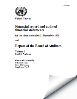 Biennium Financial Reports and Audited Financial Statements 2008-2009