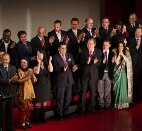 At the Intercultural Innovation Award Ceremony in Vienna, Austria on February 26th 2013. (Photo: Dan Sakamoto/UNAOC)