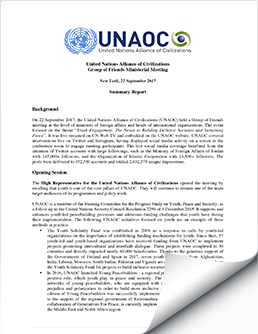 2017 September 22 UNAOC Group of Friends Ministerial Meeting Report