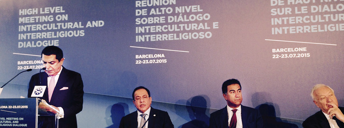 Al-Nasser Opening Remarks at the High level Meeting on Intercultural and Interreligious Dialogue in Barcelona
