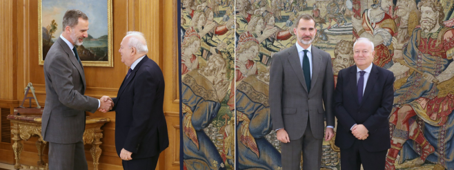 Mr. Miguel Moratinos has Audience with His Majesty King Felipe VI of Spain in Madrid