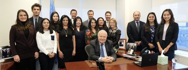 Mr. Miguel Moratinos, the High Representative for UNAOC meets with his team