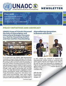 UNAOC Newsletter – January to April 2017