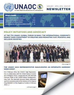 UNAOC Newsletter – January to April 2016
