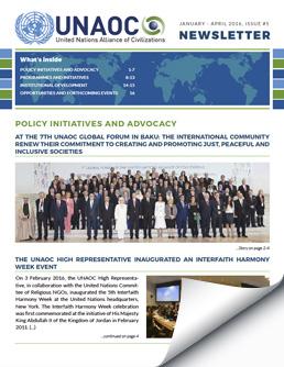 UNAOC Newsletter – January to April 2016