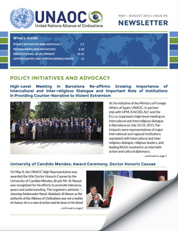 UNAOC Newsletter – May to August 2015
