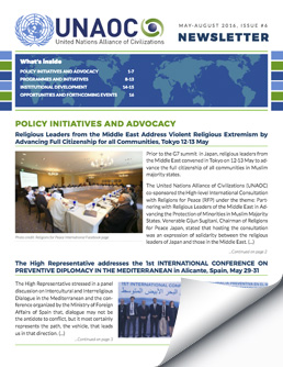 UNAOC Newsletter – May to August 2016