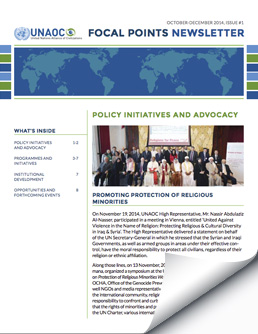 Focal Points Newsletter – October to December 2014