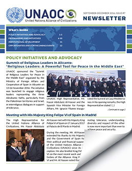 UNAOC Newsletter – September to December 2016