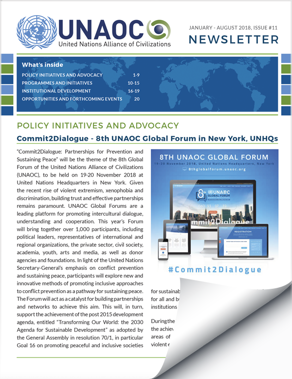 UNAOC Newsletter – Issue 11