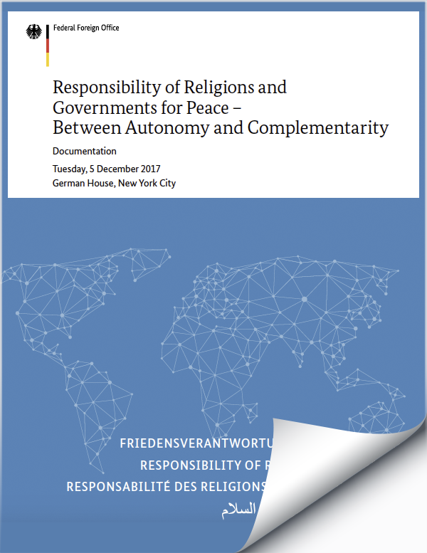 Responsibility of Religions and Governments for Peace – Between Autonomy and Complementarity
