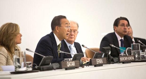 UN Secretary General Ban ki-Moon speaks at UNAOC Ministerial Meeting