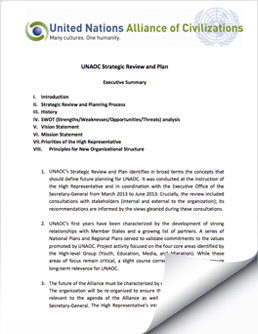 UNAOC Strategic Review and Plan, 2013-2018