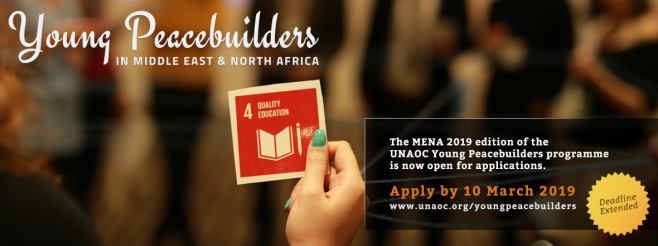 United Nations Alliance of Civilizations Launches Call for Applications for Young Peacebuilders in Middle East and North Africa, 2019 edition